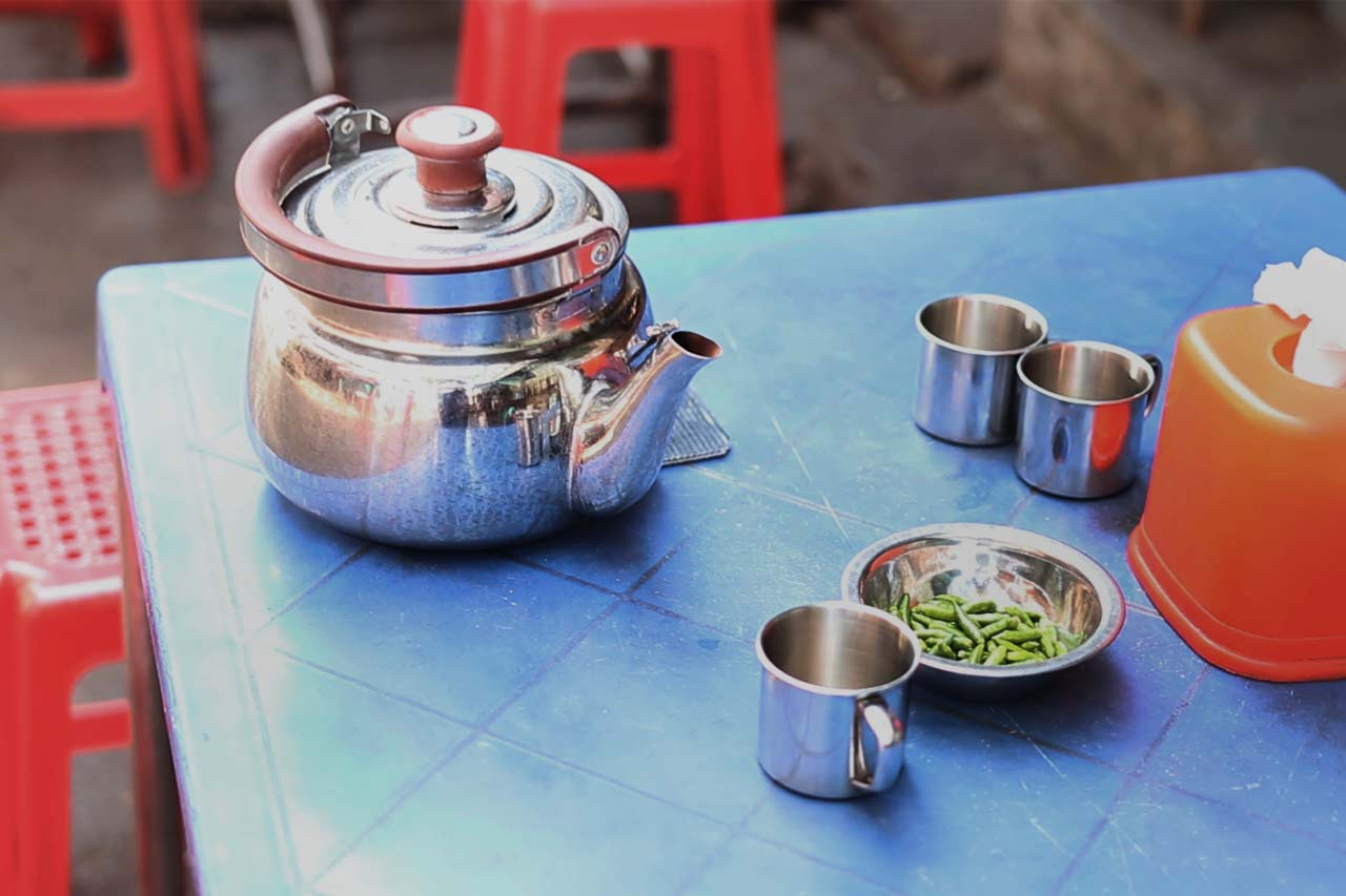 thé birman, yangon