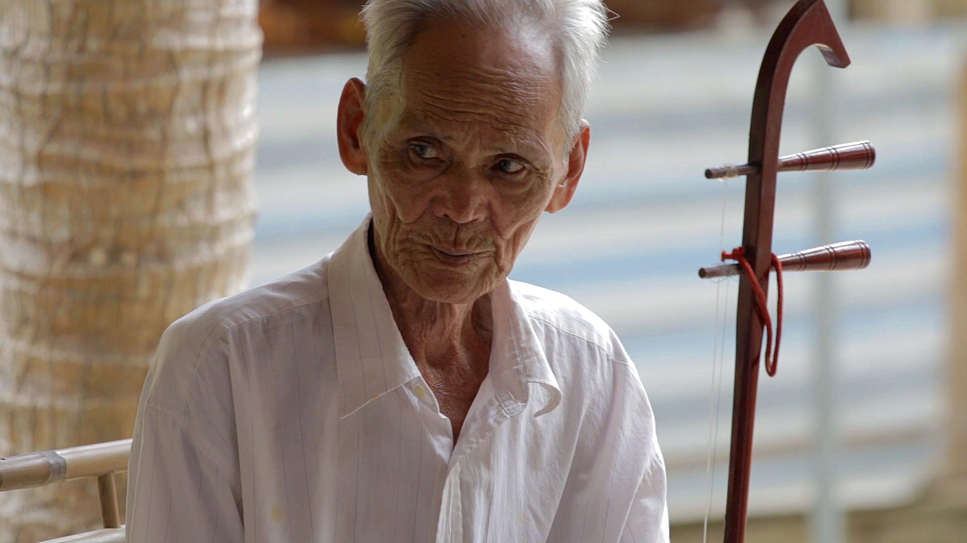 Vietnam, ben tre, musicien, folklore