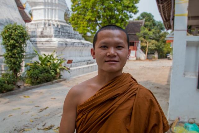 laos, luang prabang, moine, temple