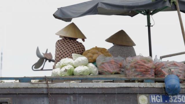 Vietnam, Can Tho, delta du mékong, marché flottant