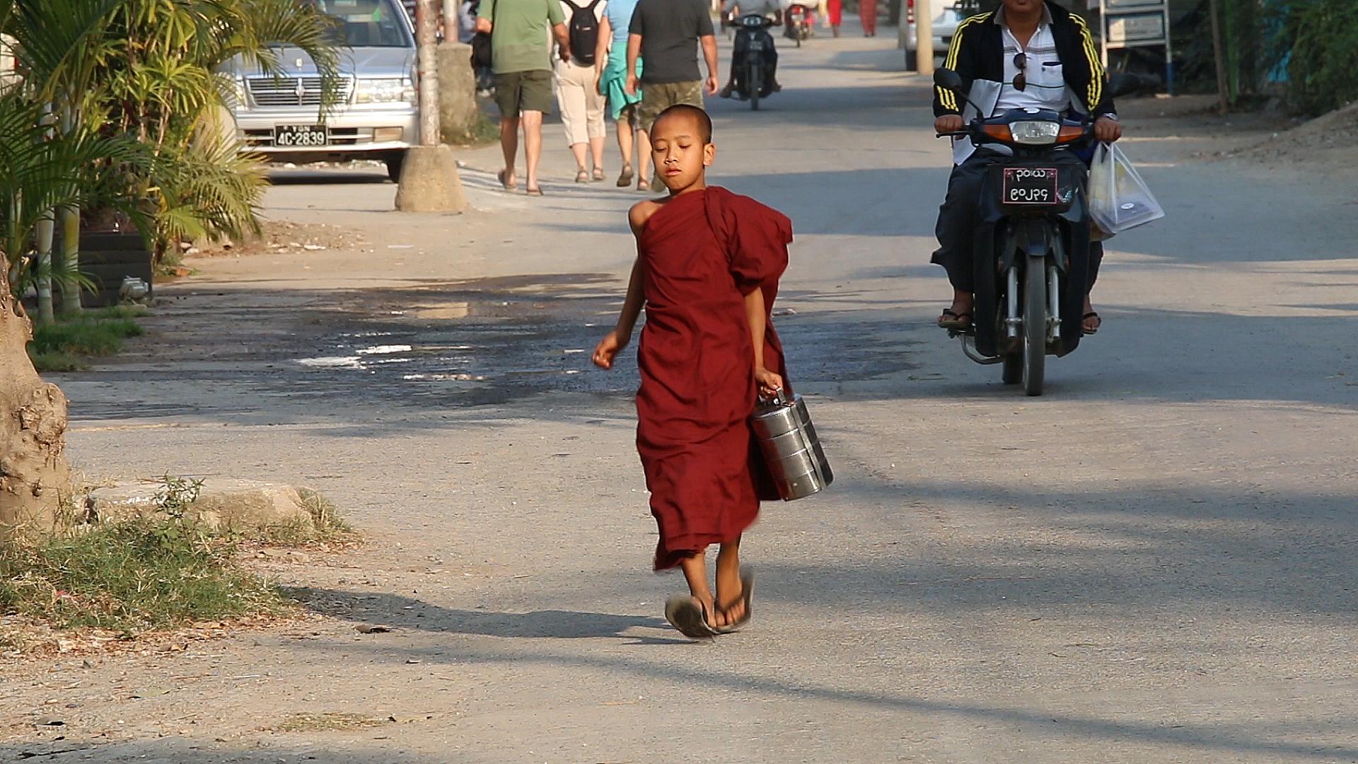 yangon, birmanie, myanmar, moine, birman