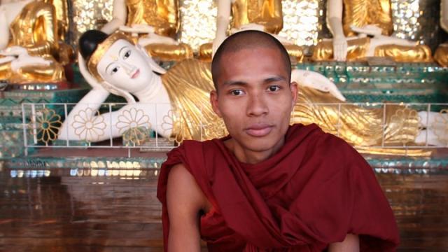 myanmar, birmanie, yangon, shwedagon, moine
