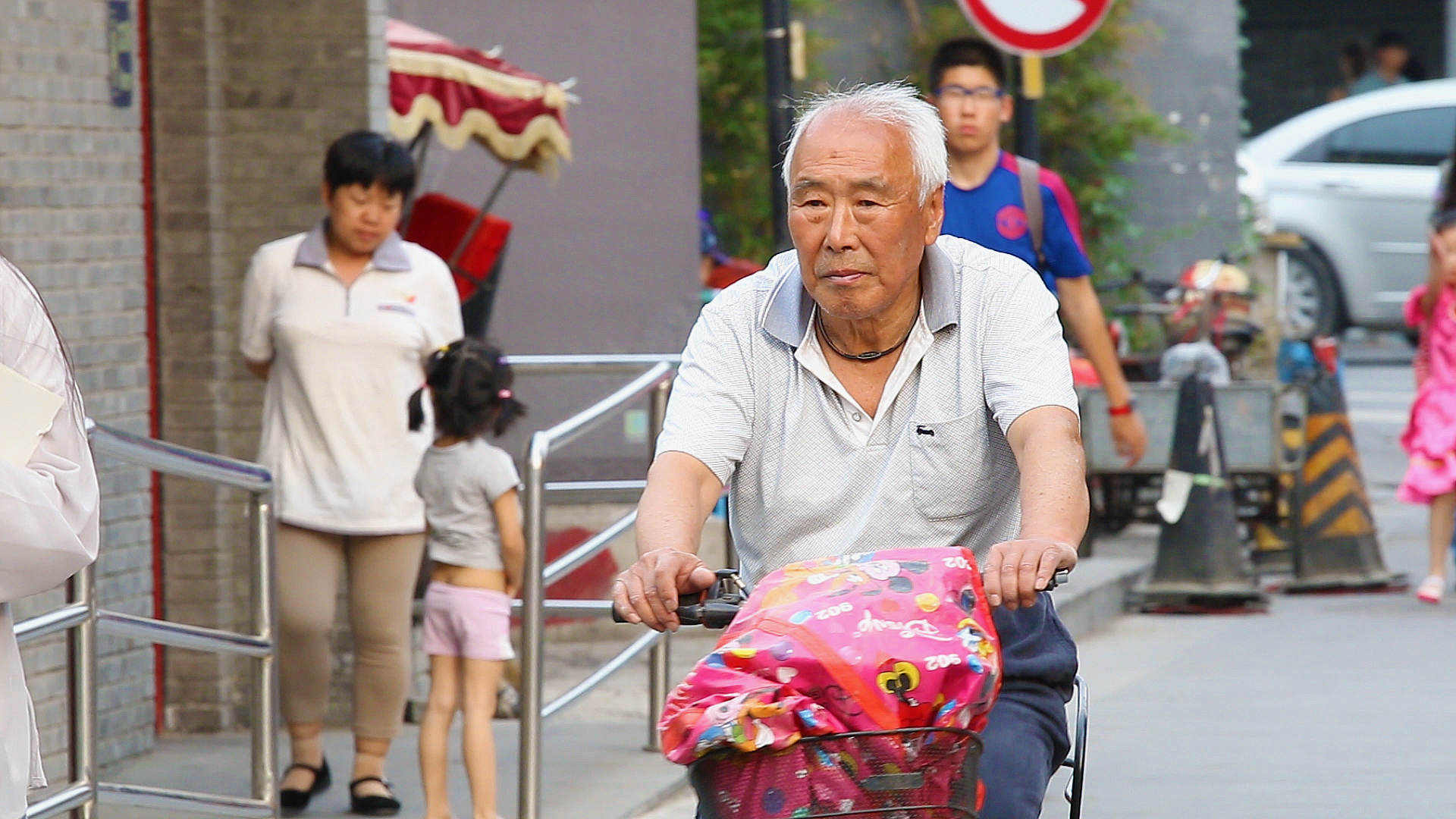 Chine, Pékin, Hutong, chinois, vélo