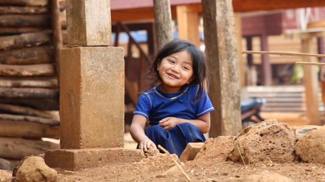 Bolovens, Bolaven plateau, Laos, enfant, laotienne