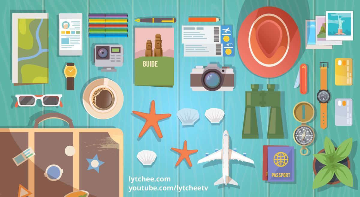 accessoires, gadgets, articles, voyage