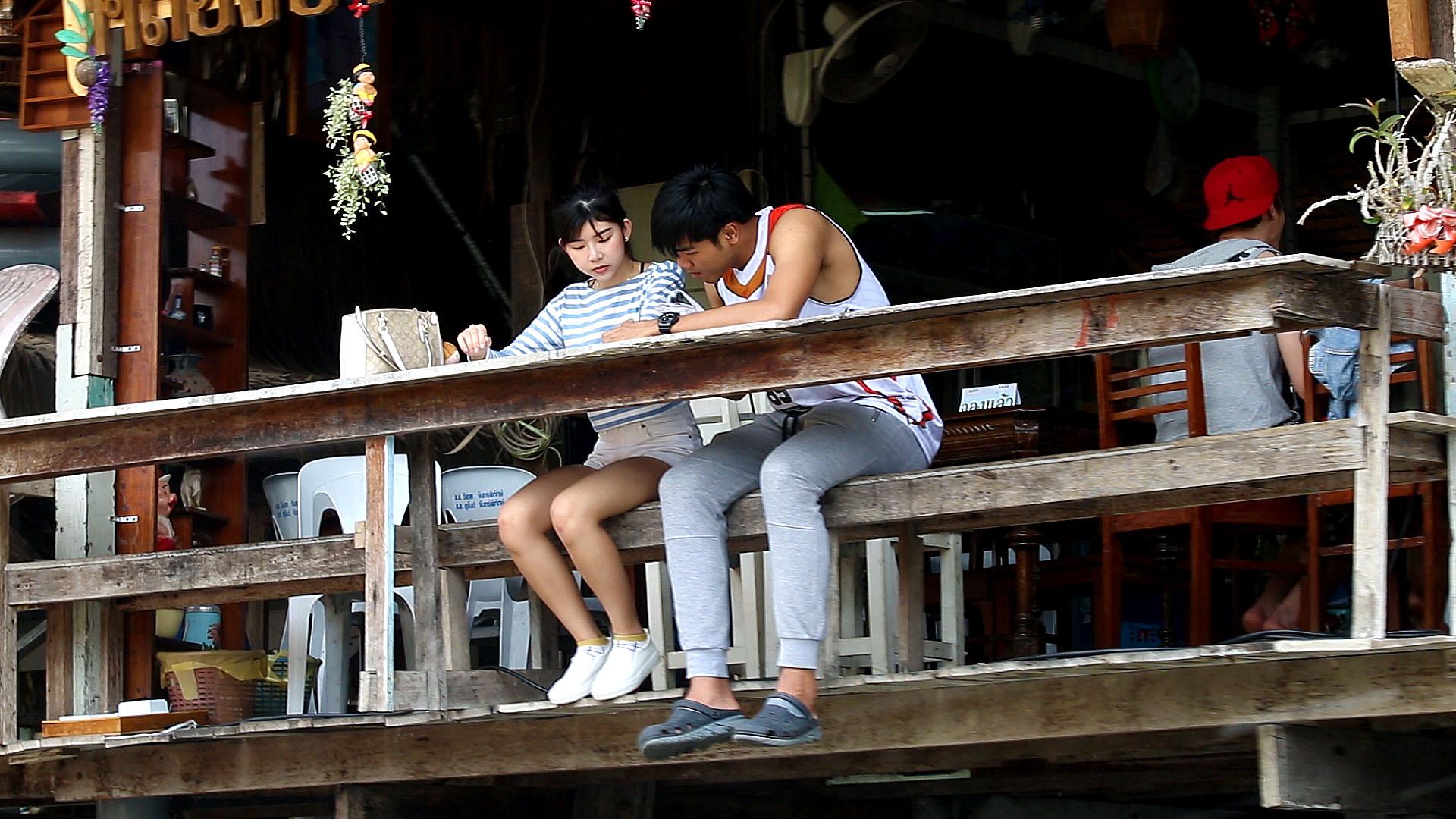 canaux de Thonburi, Bangkok, Thaïlande, vie locale
