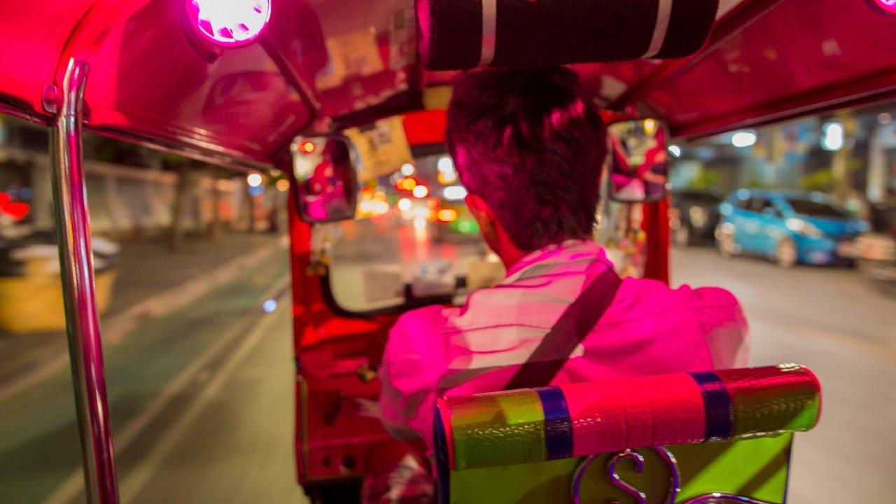 Bangkok, Thaïlande, tuk-tuk, conducteur