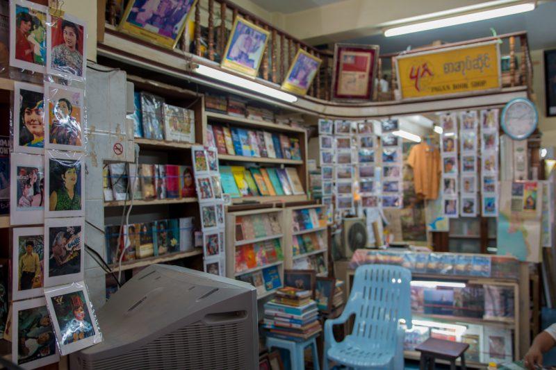 librairie, yangon, myanmar