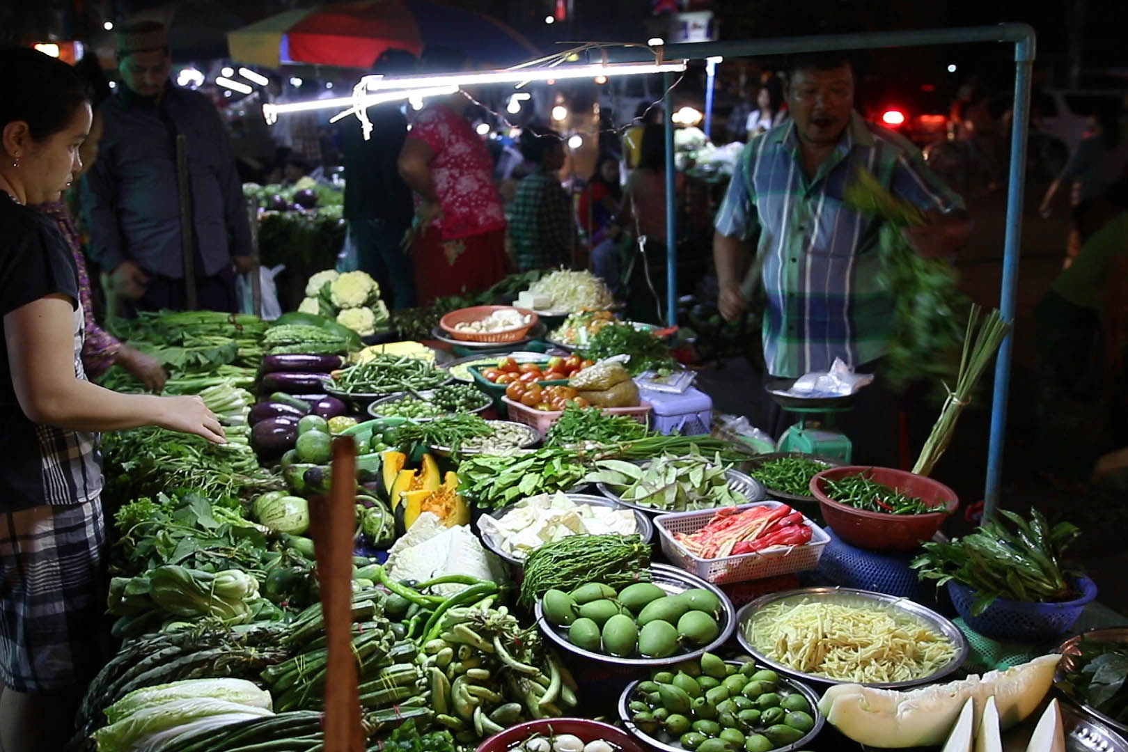 marché Yangon, Birmanie, Myanmar
